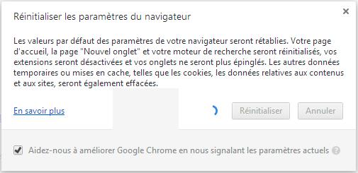 chrome5 - Comment réinitialiser son navigateur internet ?