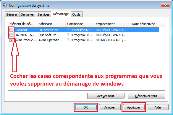 Comment configurer les programmes lancés au démarrage de Windows ? - 2017 - 2018