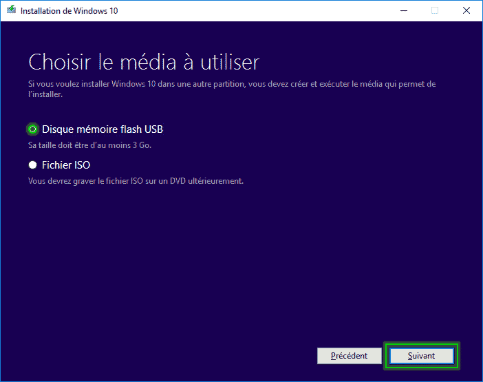 Tutorial_installaltion_windows_10_Disque_mémoire_flash_usb