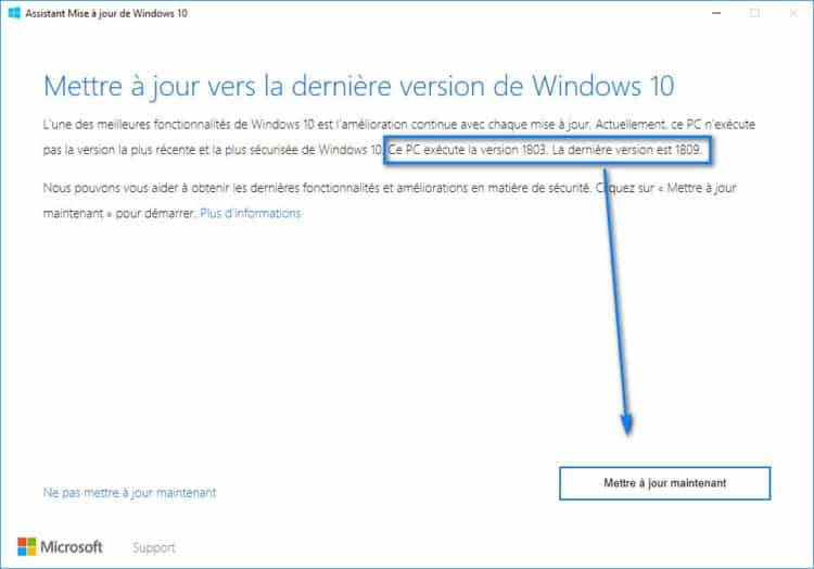 Télécharger et installer Windows 10 1809