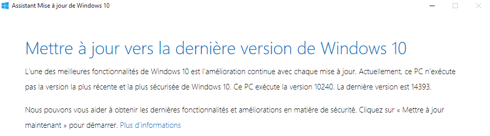 windows upgrader accueil