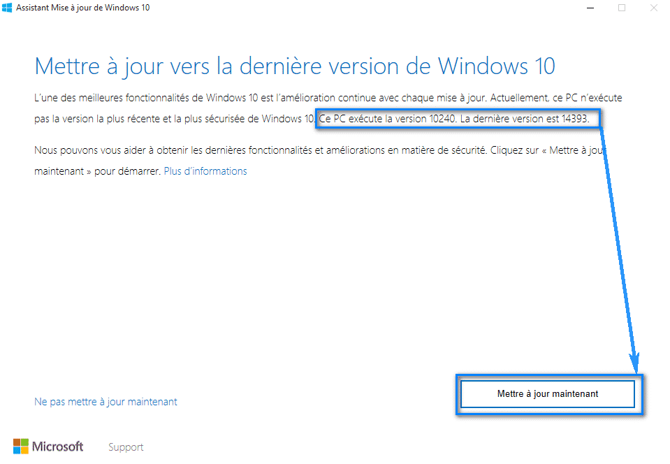 windows upgrader mettre a jour