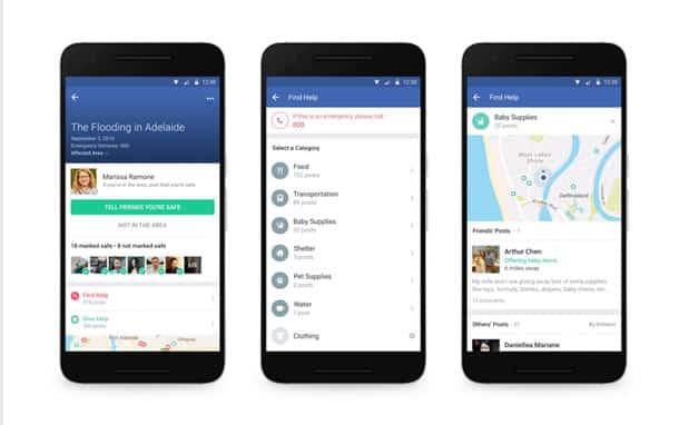 Facebook : avec Community Help, l'aide s'organise autour de Safety Check