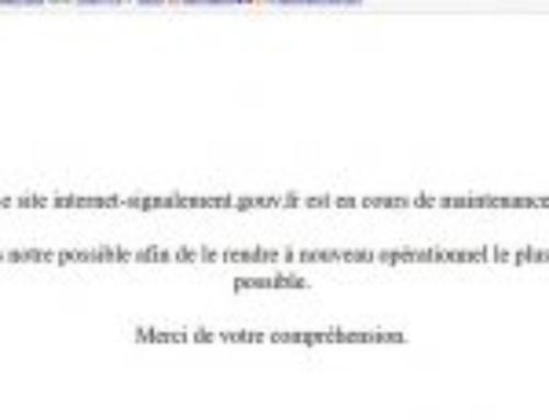 Le site internet-signalement.gouv.fr fermé le temps de corriger, après une attaque ?