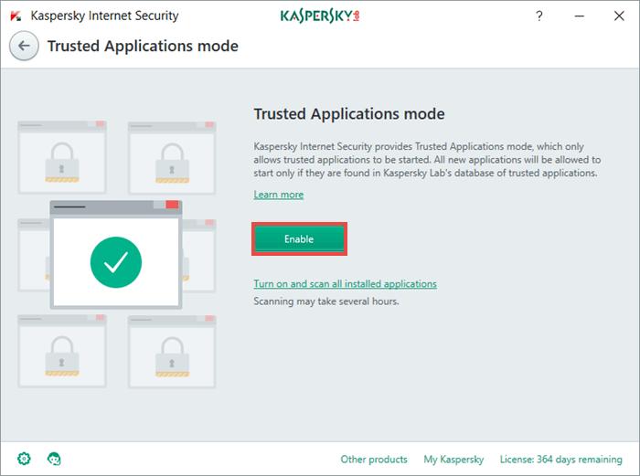 Kaspersky: Conseil de la semaine : comment protéger des utilisateurs novices en informatique ? support technique, produits, mode Applications de confiance, Kaspersky Internet Security, conseils, Conseil de la semaine, 2017