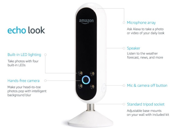 amazon echo look du machine learning pour vous aider a vous habiller - Amazon Echo Look : du Machine Learning et de l'IA pour vous aider à vous habiller