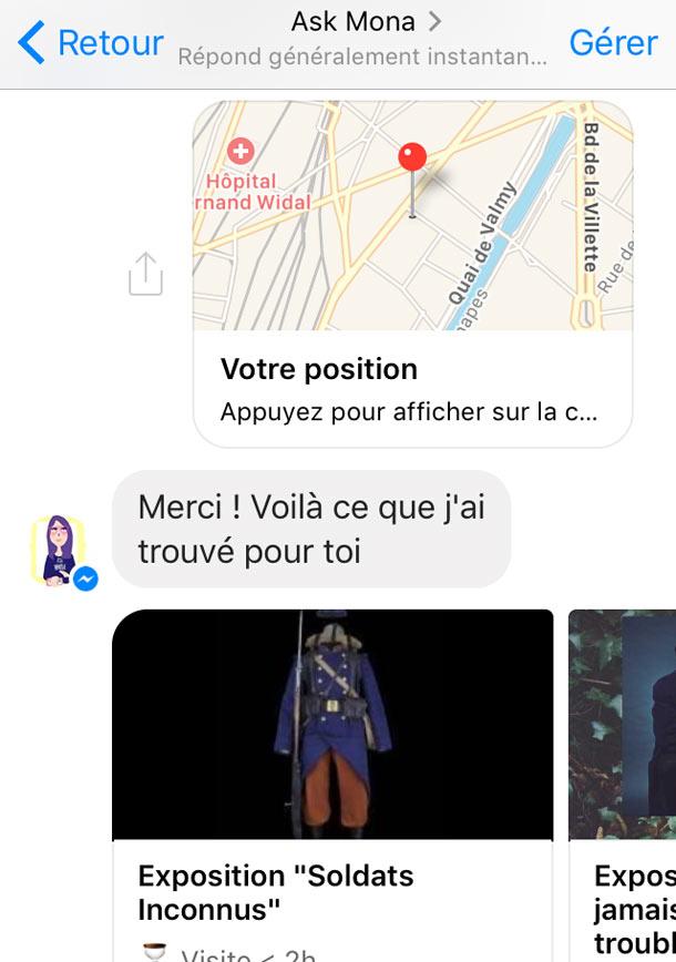 ask mona le bot parisien qui vous dit que voir et que faire sur messenger - Ask Mona : le bot parisien qui vous dit que voir et que faire sur Messenger