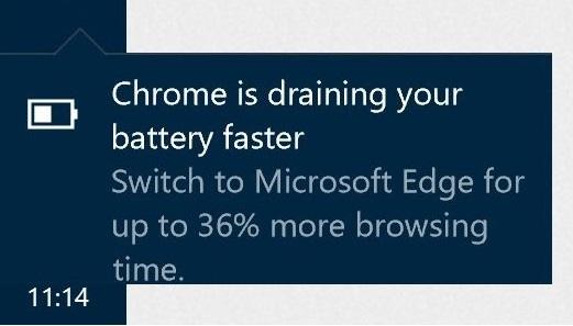 Edge : Microsoft s'attribue encore le titre de navigateur le plus sobre - 2017 - 2018