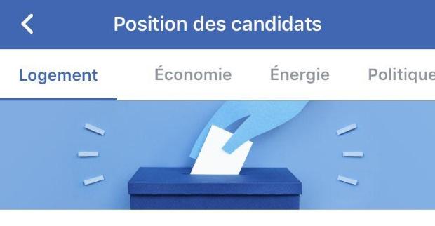 Facebook s'engage dans l'élection présidentielle Politique, Facebook