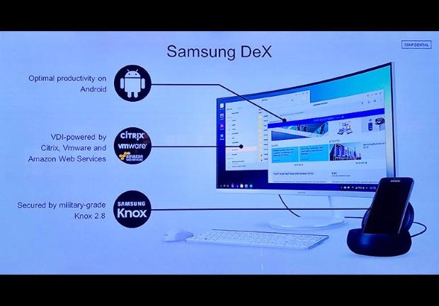 Samsung Galaxy S8 : DeX, l'expérience PC plutôt convaincante Samsung, Galaxy S8, Entreprise