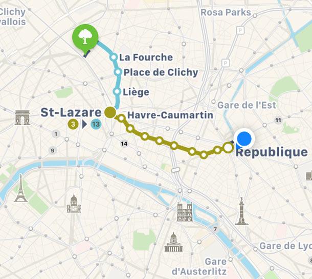 Les plans et itinéraires RATP arrivent dans Apple Plans - 2017 - 2018
