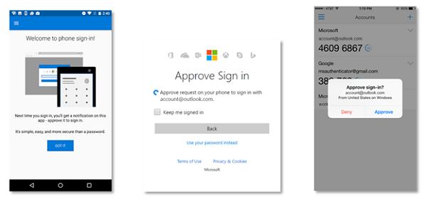 Microsoft propose de se débarrasser des mots de passe pour ses comptes Microsoft, Authentification
