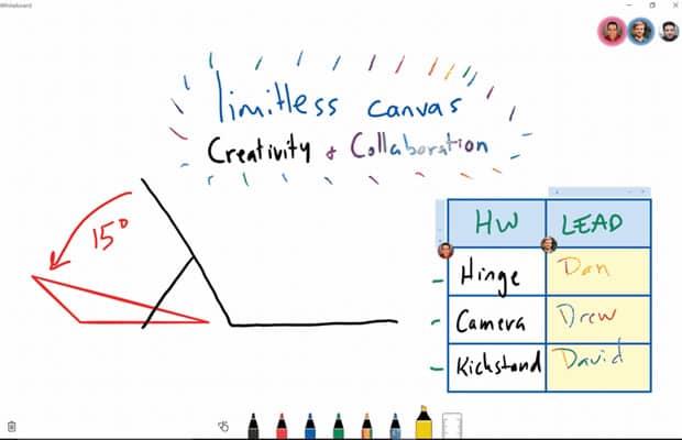 Microsoft lance une app de tableau blanc collaboratif Surface, Microsoft, Collaboratif, Application