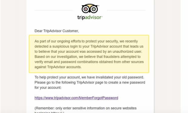 tripadvisor des mots de passe visites et reinitialises - TripAdvisor : des mots de passe visités et réinitialisés