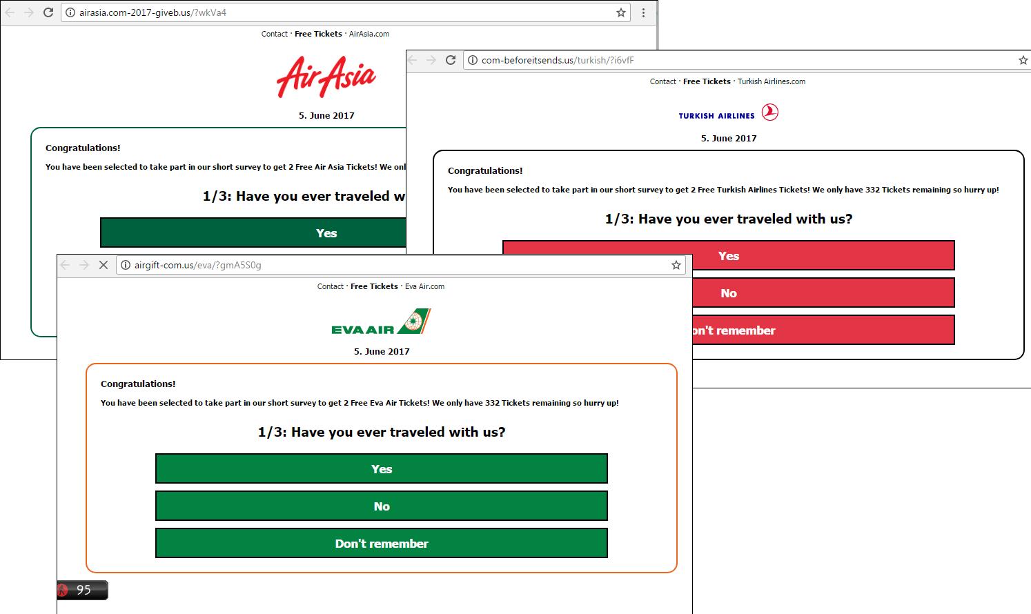 Kaspersky: Non, vous n'avez pas gagné deux billets d'avion tourisme, hameçonnage, gratuit, compagnies aériennes, billets, arnaque