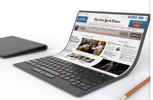 Lenovo fait le buzz avec son concept de PC à écran flexible - 2017 - 2018