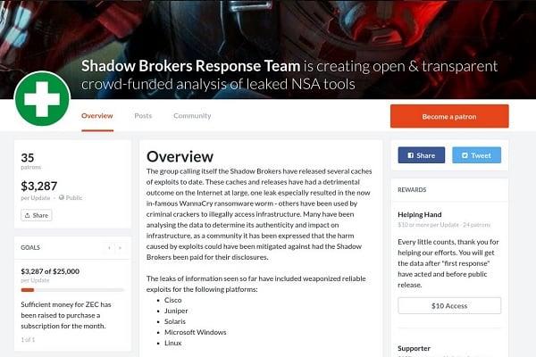 Shadow Brokers : un projet de crowdfunding avorte au dernier moment Sécurité, Cybercriminalité, Cyberattaques