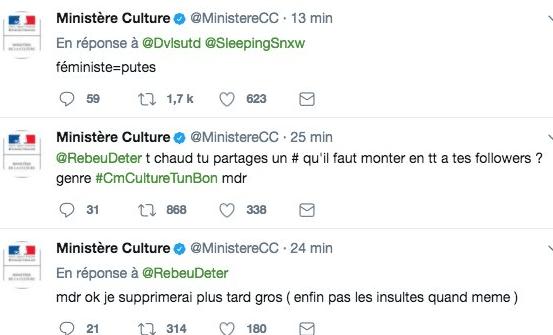 1500387776 391 le compte twitter du ministere de la culture detourne par negligence - Le compte Twitter du ministère de la Culture détourné par négligence