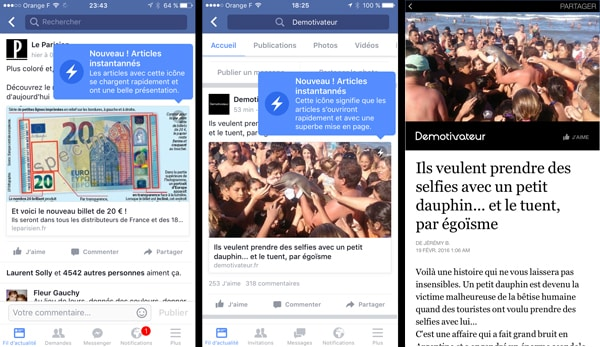 Facebook : Instant Articles pourra devenir payant Facebook