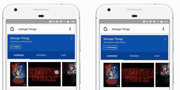 Google inaugure son fil d'actualités basé sur les recherches de l'utilisateur Mobile, Google