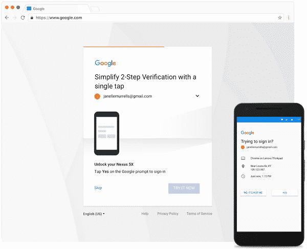 Google revoit sa double authentification pour se débarrasser du SMS Sécurité, Google