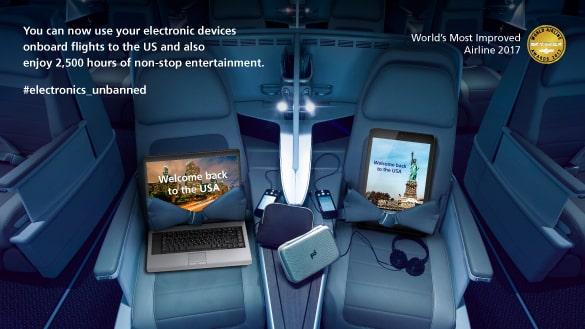 les etats unis levent les restrictions sur les appareils electroniques dans les avions - Les États-Unis lèvent les restrictions sur les appareils électroniques dans les avions