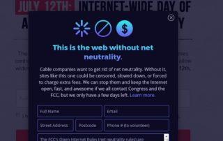 Neutralité du net : le web américain se mobilise peu