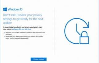 Windows 10 : il va falloir passer à la version Creators Update