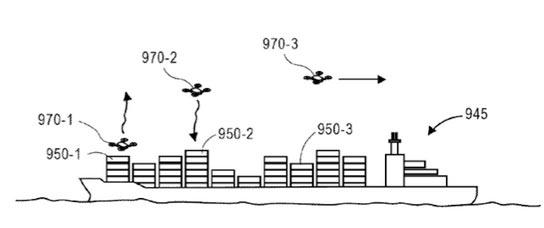 Trains, bateaux, camions ; l'architecture folle imaginée par Amazon pour vous livrer par drone Drone, Amazon