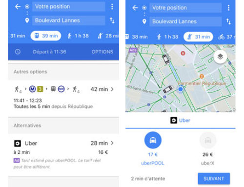 Blablacar rejoint la galaxie du transport multimodal intégré à Google Maps