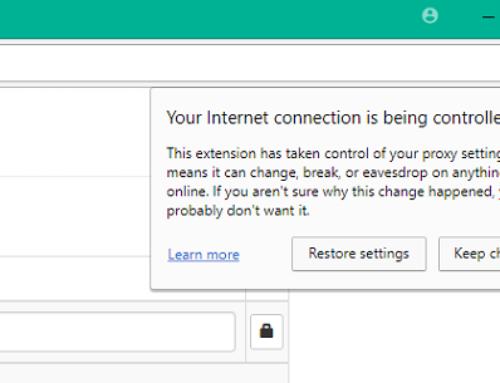 Chrome se soucie de la sécurité de votre connexion