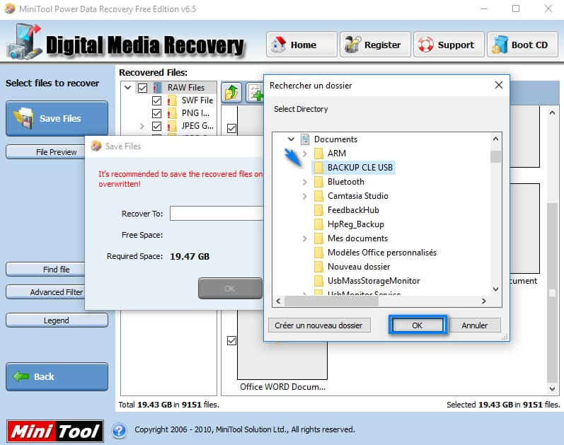 Clé USB demande formatage - copie des données vers document