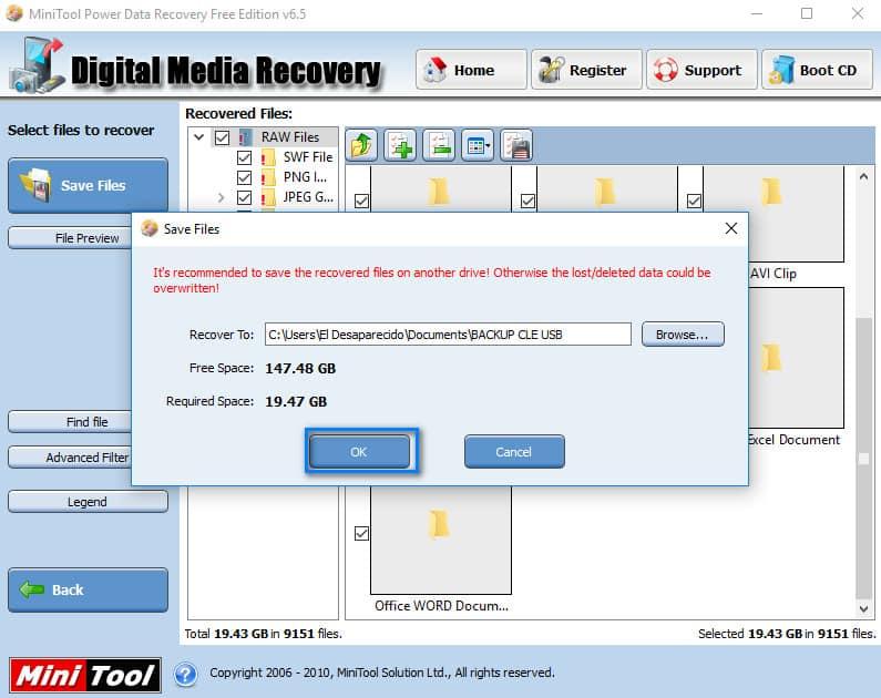 Clé USB demande formatage - copier fichiers vers pc