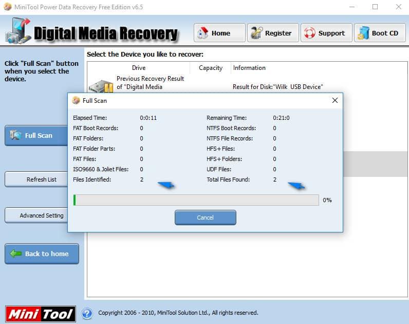 Clé USB demande formatage demarer la récupération
