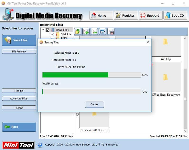 Clé USB demande formatage - restauration fichier 67%