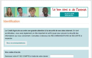 campagne phishing credit agricole fausse page web