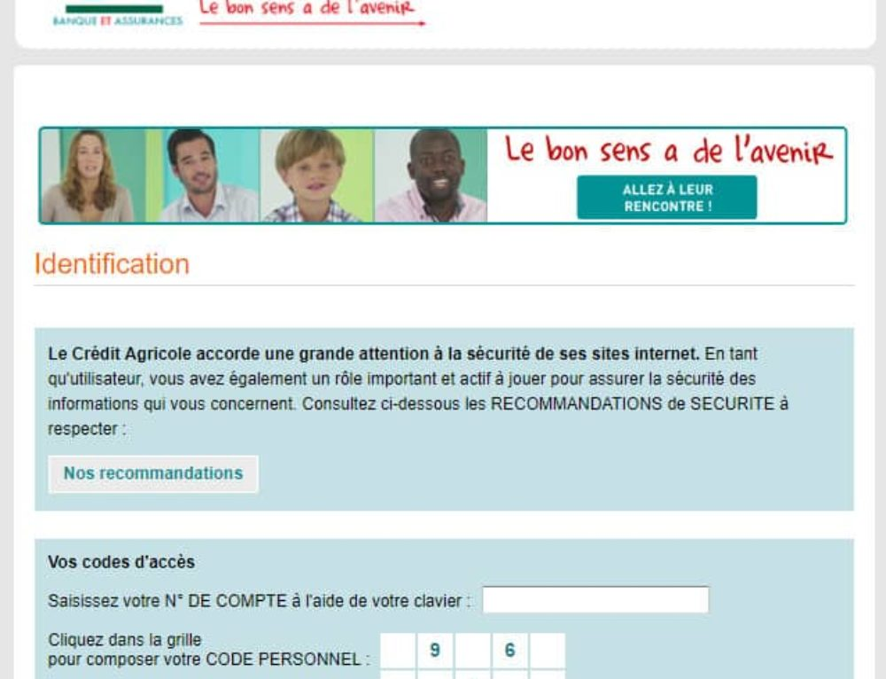 Phishing Crédit Agricole : Campagne en cours