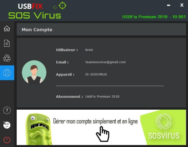 usbfix 2018 onglet compte 750x586 - UsbFix 2018 Previsualiser