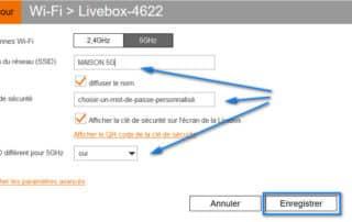 renommer reseau wifi 5GHZ livebox orange