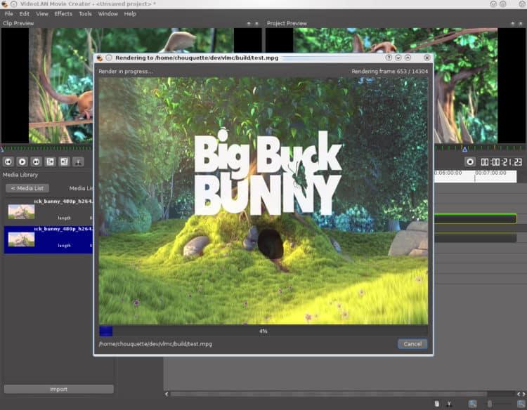 VideoLAN Movie Creator 750x584 - VideoLAN Movie Creator (VLMC)