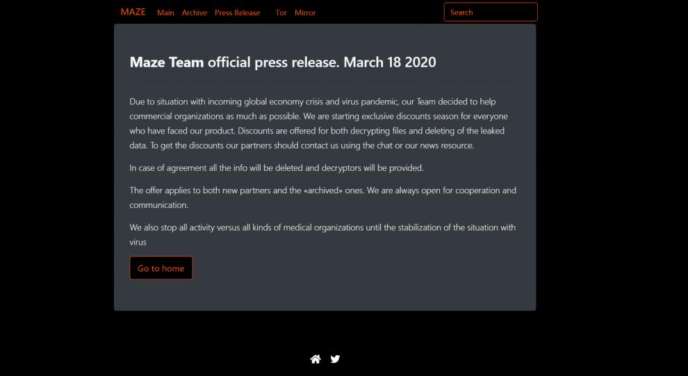 Bitdefender Un groupe de pirates promet de cesser les - Bitdefender : Un groupe de pirates promet de cesser les attaques contre les unités médicales jusqu'à la fin de la crise