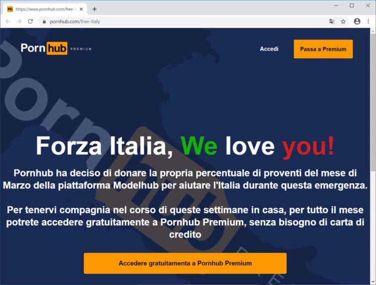 pornhub free italy 750x568 - PornHub aide les Italiens à rester confiné avec un accès Premium gratuit