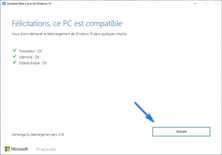 Windows 10 Upgrader check installation Windows