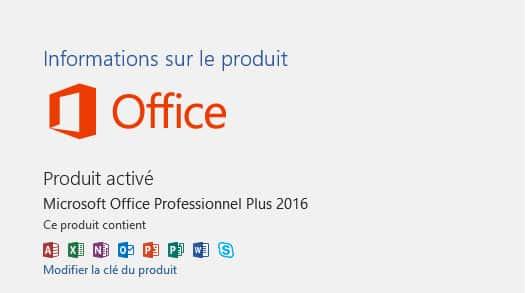 activer office 2016 gratuitement
