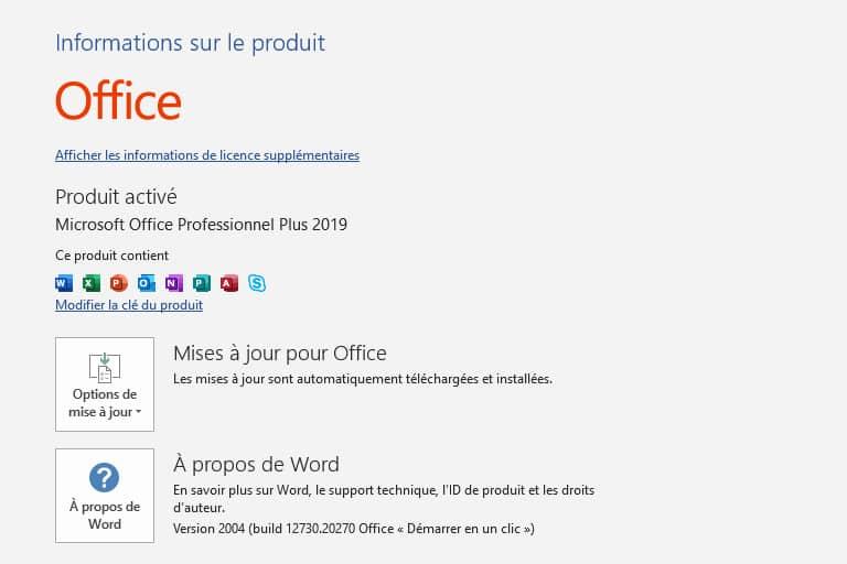 comment activer office 2019 gratuitement