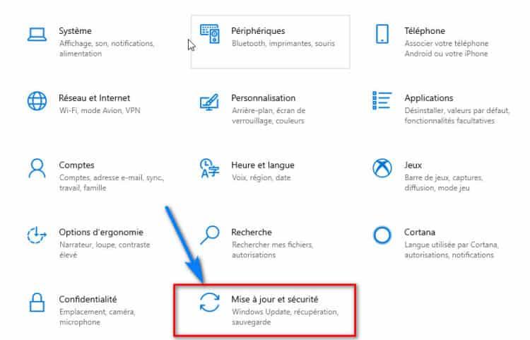 parametres windows 10 mise a jour et securite 750x481 - Réinitialiser Windows 10 sans perte de données