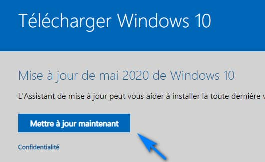 télécharger Windows 10 2004 avec l assistant de mise a jour - Télécharger et Installer Windows 10 2004