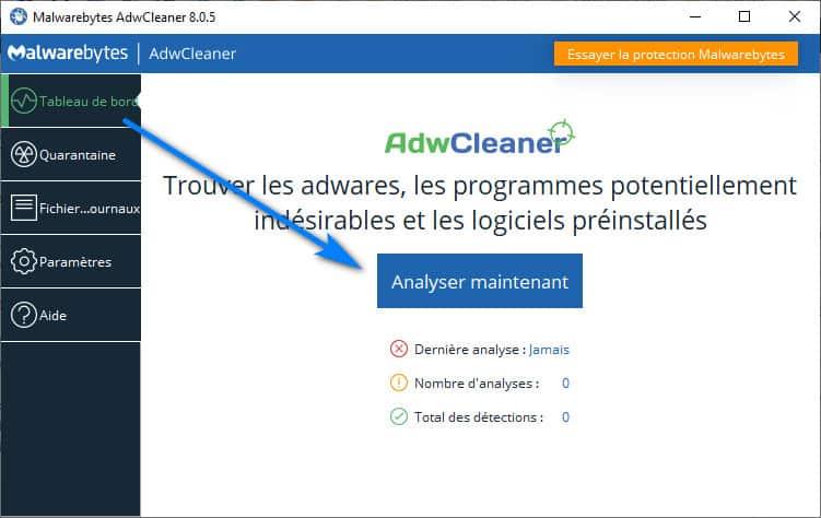 adwcleaner analyser windows 10 - AdwCleaner pour Windows 10