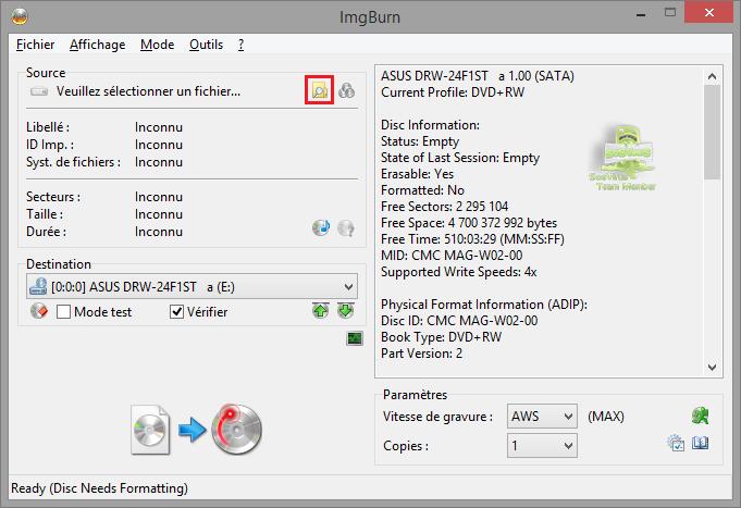 img2da0ca - Tutoriel ImgBurn, graver un fichier iso